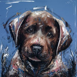 Dirty Dog by Samantha Ellis - Hand Finished Limited Edition on Canvas sized 20x20 inches. Available from Whitewall Galleries